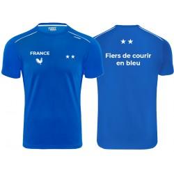 T shirt Runnek Ultra personnalisé courir en Bleu