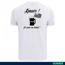 T-Shirt technique Running BZH Kenavo - modèle homme